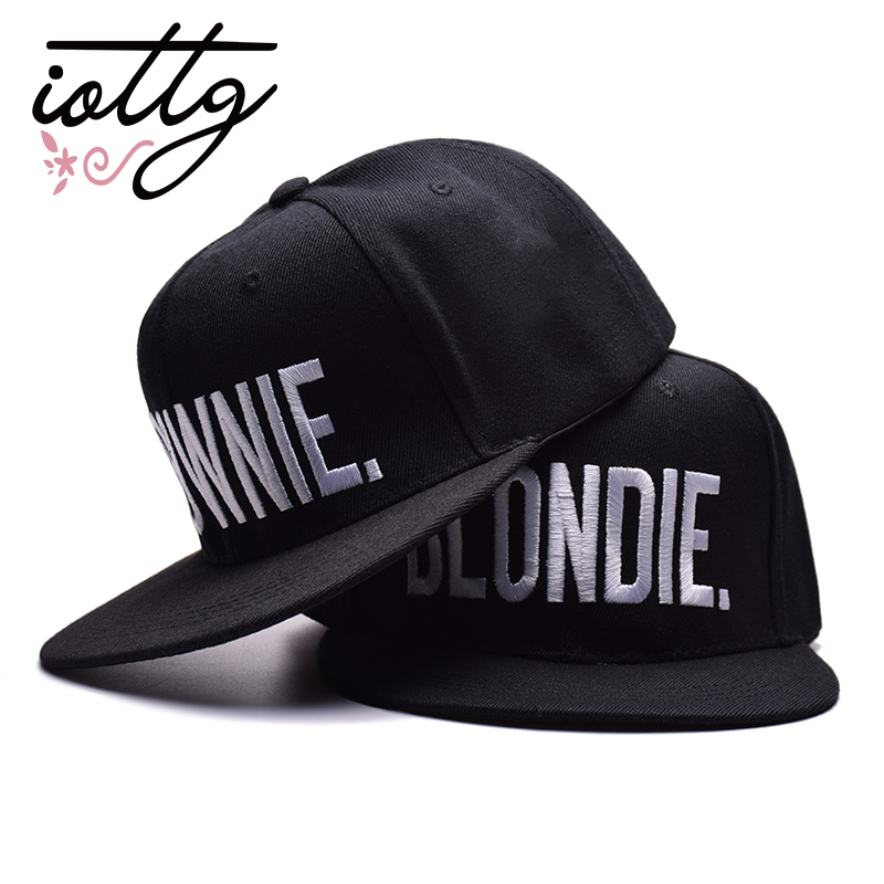 daa9dc722 IOTTG High Quality BLONDIE BROWNIE Embroidered Baseball Cap Hip Hop ...