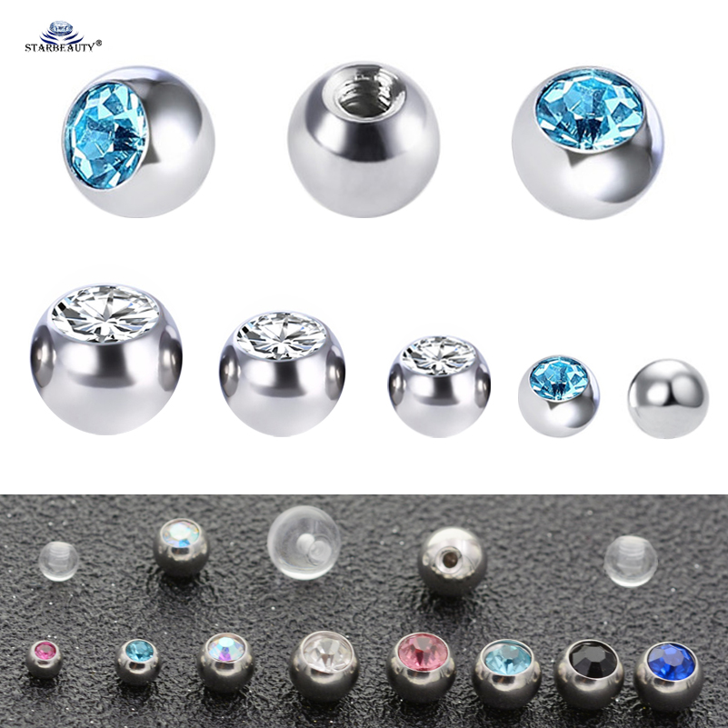 Lip Piercing Screw Earrrings Eyebrow CZs /& Silver ball 2 Combos to choose from