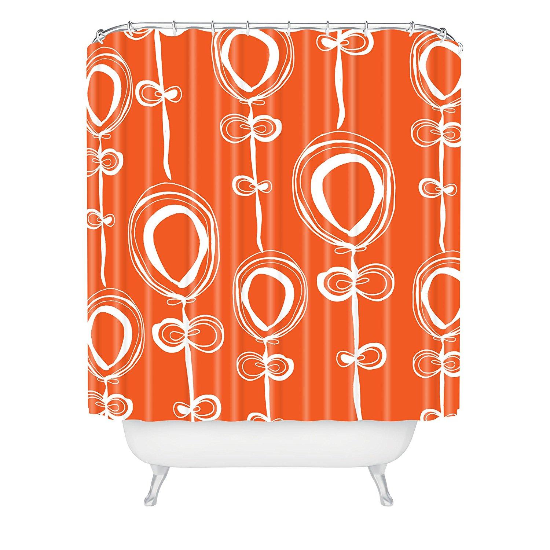 popular orange shower curtainbuy cheap orange shower curtain lots  - rachael taylor contemporary orange shower curtain xinches(china)
