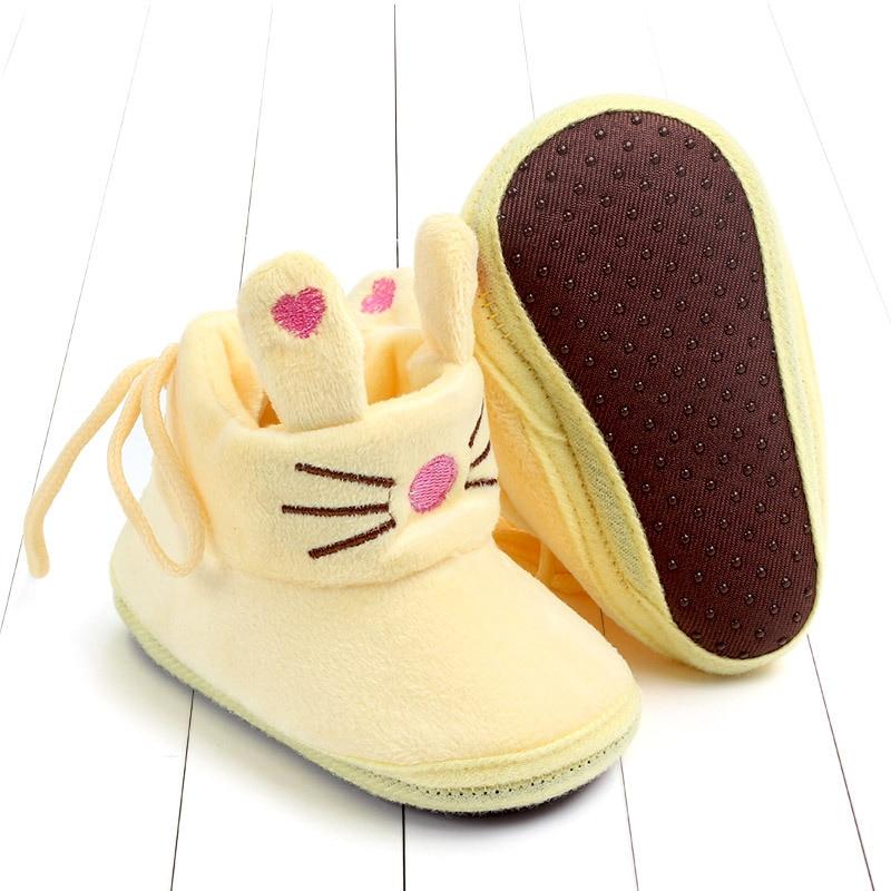 Indoor First Walkers Baby Shoes Cotton Anti-slip Booties Winter Wammer Baby Girl Boy Shoes Newborn Slippers Footwear Booties (27)