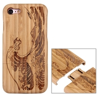 100 Natural Real For Apple IPhone 7 Case Wood Bamboo Hard Back Case Handmade Carving Cover