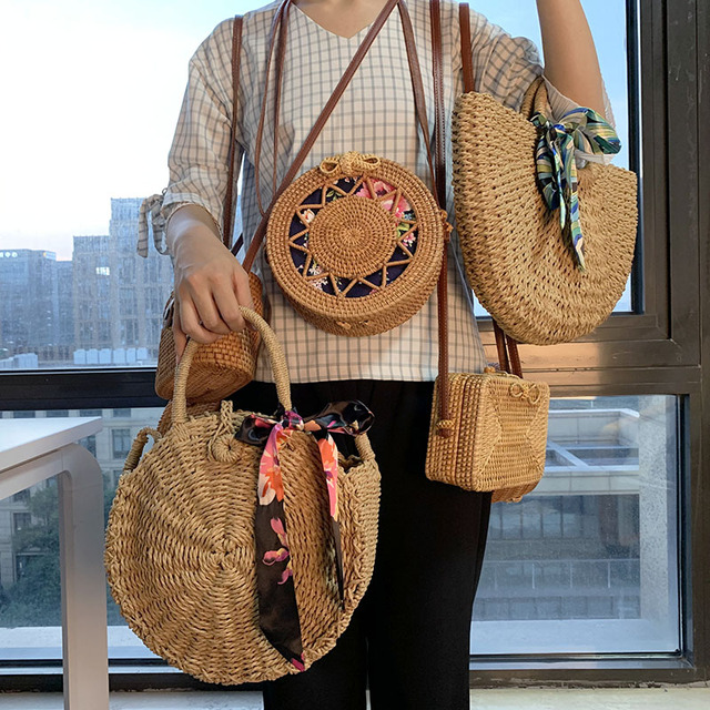 brixini.com - Handmade Bohemian Summer Beach Straw Bags