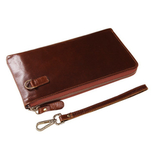 Fashion Slim Design Genuine Leather Multi Card Holders Long Womens Wallets and Coin Purses Money Bag