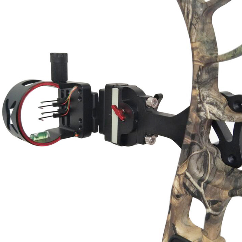 4 pins Compound Bow Sight Micro Adjustable Compound Bow Sight with Light Outdoor Hunting Athletics Bow Recurve Sight Accessory стоимость