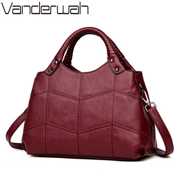 VANDERWAH Brand Half moon bag Leather luxury handbags women bags designer Embroidery ladies hand bag Wristlets Sac a main femme Сумка