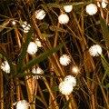 Lámparas solares 10 M/12 M Chuzzle Bola Al Aire Libre Solar LED Cadena Luz de Hadas Del Partido Del festival de Navidad