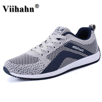Mens Running Shoes Spring Summer Trainers Men Sneakers Gray Blue Men Sport Shoes Breathable Men Walking