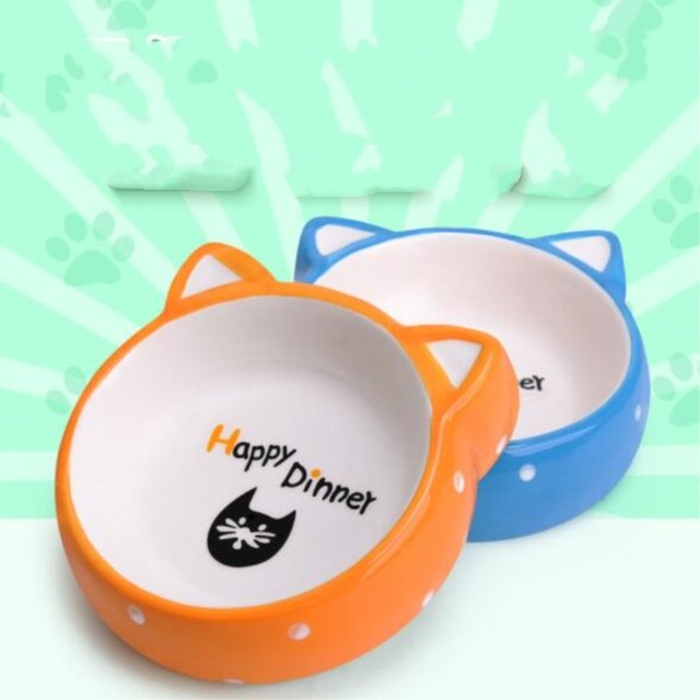 Ceramic Non-slip Food or Water Bowls for Cats and Dogs