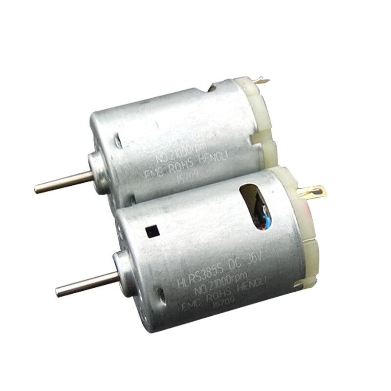 1PCS/2PCS/5PCS/10PCS R385 Micro Motor 6500 RPM Micro Toy Mini Motor Net weight 60g For Boat Small DC Motor Science Experiments