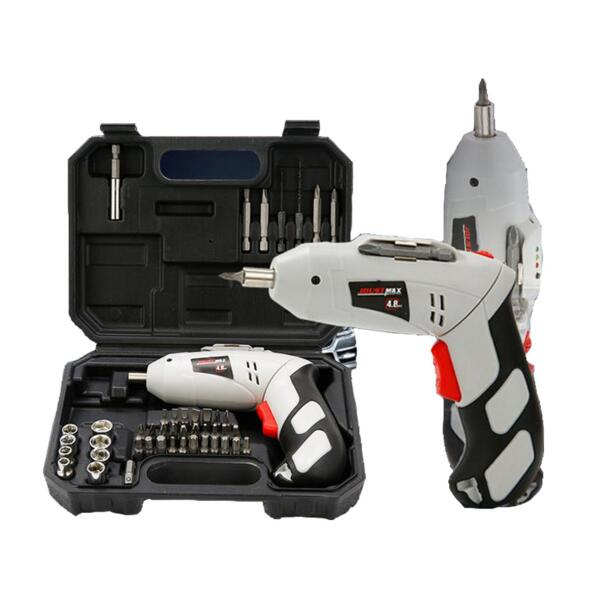 цена на 4.8V Mini Electric Screwdriver Drill Rechargeable Cordless Screwdrivers Lithium Battery Household DIY Tools Sets
