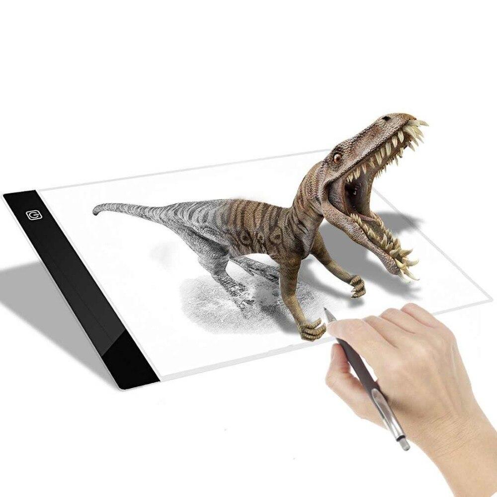 Tracing Light Box A4 Ultra-sottile USB Power LED Artcraft tracer Luce Pad LightBox per Artisti Disegno Schizzo di Animazione bordo