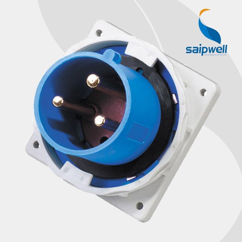 63A 230 V 3 P (2 P + E) prise électrique étanche industrielle prise murale étanche aux éclaboussures IP67 EN/IEC 60309-2 type SP836
