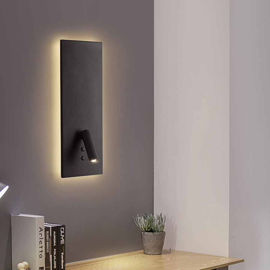 BEIAIDI Novelty Nordic Iron Bedside Wall Light With Switch Aisle Restuarant Hotel LED Wall Lamp with Rotating Reading Spot LightBEIAIDI Novelty Nordic Iron Bedside Wall Light With Switch Aisle Restuarant Hotel LED Wall Lamp with Rotating Reading Spot Light