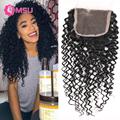 1pc 4x4 Kinky Curly Lace Closure Bleached Knots Kings Hair Mongolian Curly Virgin Hair 8-20inch Jerry Curly Virgin Hair Closure