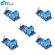 5 pcs / lot Tegangan Deteksi Sensor Modul Tes Batu Bata Elektronik DC 0-25V untuk Arduino