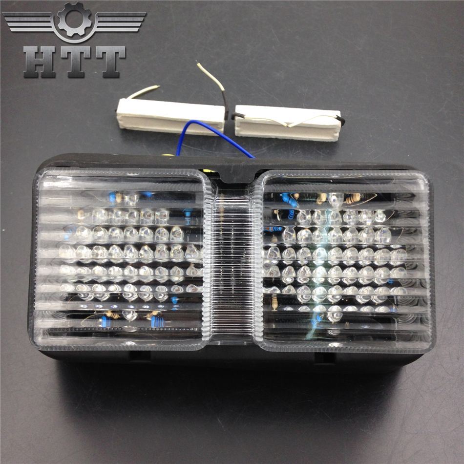 Aftermarket free shipping motorcycle parts LED Tail Brake Light Turn Signals for Honda 2000 2001 2002-2006 RC51 RVT1000R CLEAR aftermarket free shipping motorcycle parts eliminator tidy tail for 2006 2007 2008 fz6 fazer 2007 2008b lack