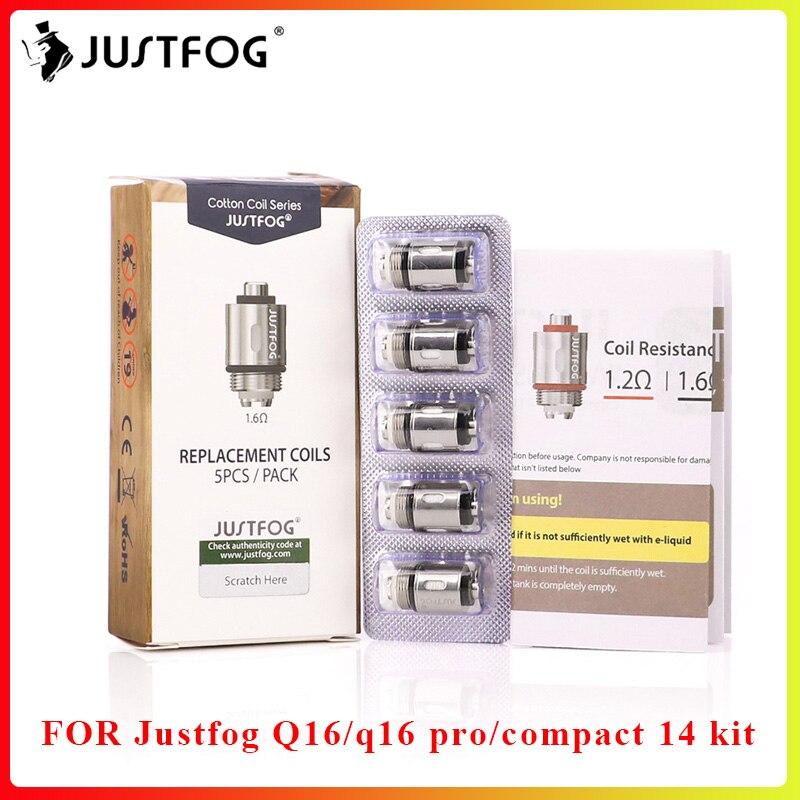 Bigsale JUSTFOG Q16 Coil Q14 Coil 1.6ohm 1.2ohm Head Core For Q16 Clearomizer Q14 Sub Ohm Tank Airflow Control