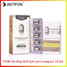 Bigsale JUSTFOG Q16 cewki Q14 cewki 1 6ohm 1 2ohm głowy rdzeń dla Q16 Clearomizer Q14 zbiornik sub ohm kontrola przepływu powietrza tanie tanio JUSTFOG Q16 Q14 coil DS NC JUSTFOG Q16 Q14 clearomizer 1 6 ohm 1 2 ohm 3 4--4 4V (6W--12W) Japanese Organic Cotton 10pcs lot