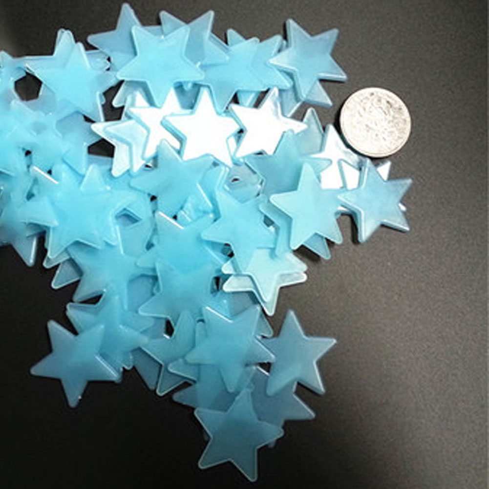 80 teile//los 3D Sterne Glow In Dark Leuchtende Fluoreszierende Wandaufkleber Wohnkultur Aufkleber Tapete Dekorative Spezielle Festivel