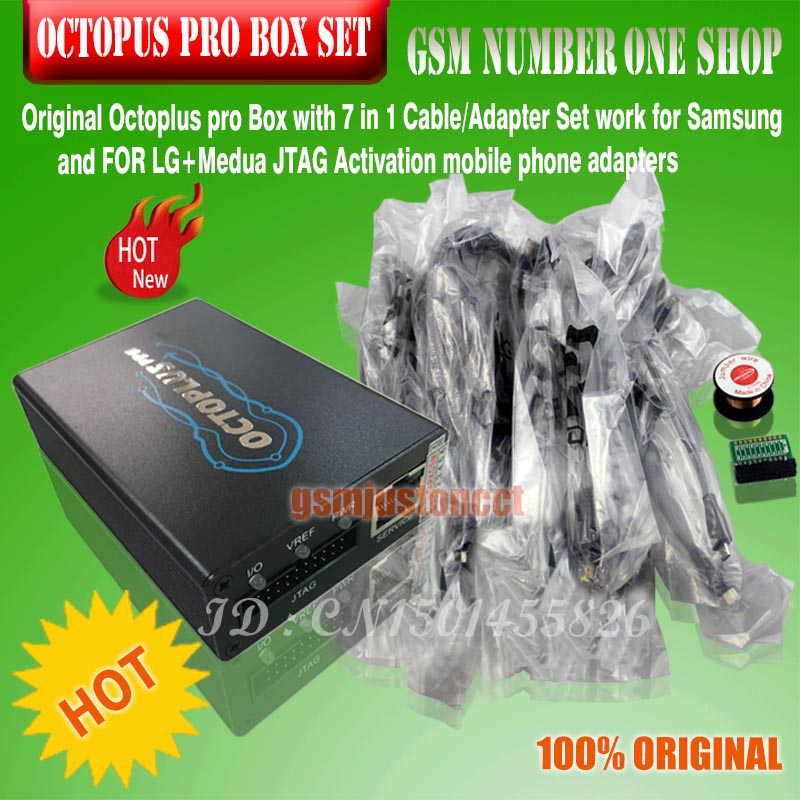 2019 NEW version OCTOPUS PRO BOX / octoplus pro Box with 5 cables for  Samsung or FoR LG and Medua JTAG actived