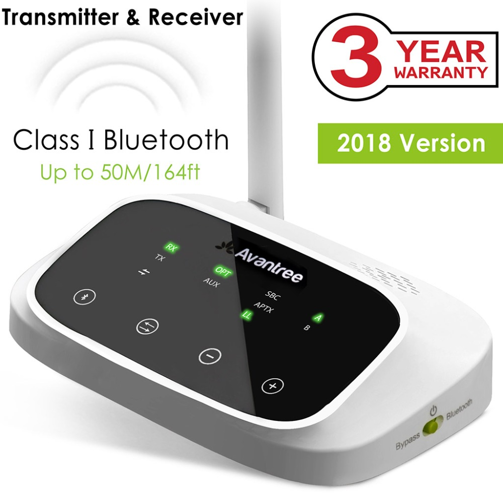 Avantree LONG RANGE Bluetooth Transmitter for TV Audio, Wireless Transmitter and Receiver,Support Digital Optical, RCA AUX PortAvantree LONG RANGE Bluetooth Transmitter for TV Audio, Wireless Transmitter and Receiver,Support Digital Optical, RCA AUX Port