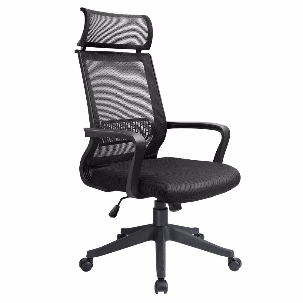 homall Office Chair Mid Back Swivel Lumbar Support Desk Chair, Computer Ergonomic Mesh Chair With Armrest (Black) swivel chair bar chair the front desk receives the silver chair