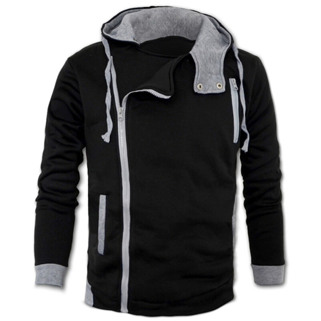 2015 Men Assassin's Slim Fit Hoodies Hooded Coat Jacket Sweatshirt Overcoat Outwear