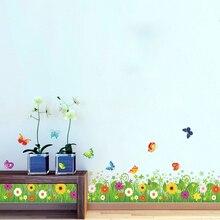 Sunflower Kitchen Removable skirting board flooring angular line 049. Wall Sticker Window Home Decor Decal Mural Art