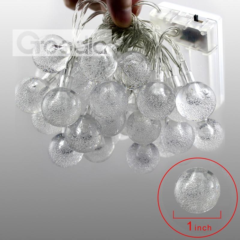 Batteri Julelys 90,5 tommer 20 LED Lysstråle Krystallkule Fairy - Ferie belysning - Bilde 4