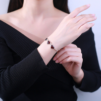 Genuine luxury JIUDUO jewelry support professional Amber beeswax dream Heart Bracelet S925 silver jewelry factory direct