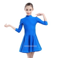 Kids Latin Dresses Summer Medium Sleeve Latin Dancing Stage Wear Performance Practice Skirt Women Children Latin Dance Dress