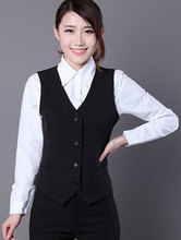 New 2016 OL Office Work Solid Suit Women's Vest Ladies Slim Formal vests Sleeveless waistcoat Female Clothing Free Shipping