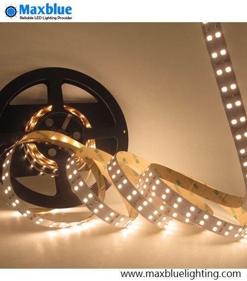 Bande de LED 2835smd 5 mètres 144 LED s/m Double rangée non étanche cordon lumineux à LED