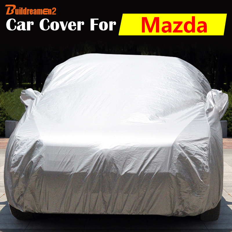 Buildreamen2 Car Cover Outdoor Indoor Anti-UV Sun Shield Snow Rain Scratch Resistant Auto Cover For Mazda 2 323 3 Tribute Navajo