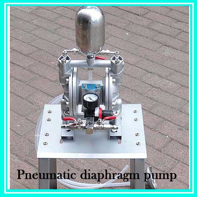 Double Way Mini Pneumatic Diaphragm Pump Aluminum Alloy Paint Mixing Pump MS-QD