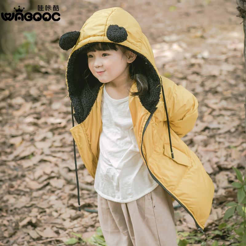 2017 Autumn and Winter New Childrens Down Jacket Thickening Korean Boys and Girls Hooded Down Jacket Long Coat2017 Autumn and Winter New Childrens Down Jacket Thickening Korean Boys and Girls Hooded Down Jacket Long Coat