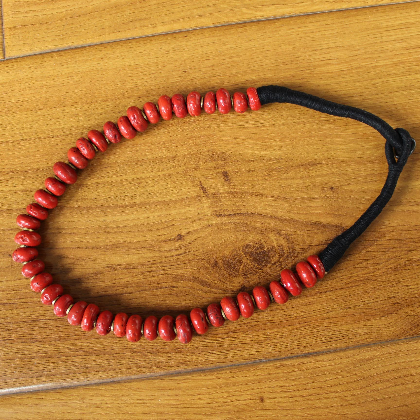 NK160 Ethnic Tibetan Coral 5 Rows Women Vintage Beaded Necklace From Nepal