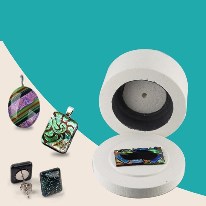 1pc Ceramic Fiber Large Microwave Kiln Hot Melting Fusing Glass Tool for DIY Glass Jewelry Decoration 19.5 x 11cm/7.68 x 4.33''