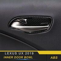 Para Lexus UX 2019 estilo de coche puerta Interior cuenco puerta cubierta de muñeca marco adhesivo accesorios interiores