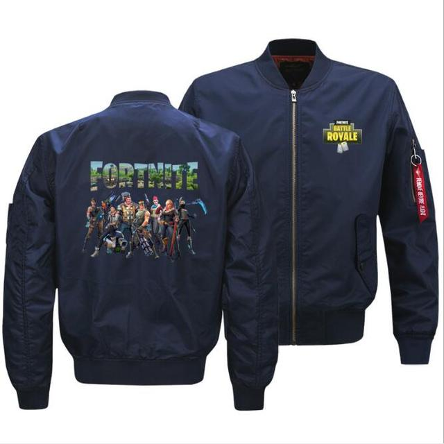 Fortnite jacket autumn  winter sweatshirt men's new pilot custom victoryroyale printed jacket large size thick coat Ouma S-5XL