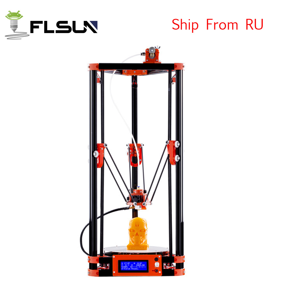 Ship from Russian Delta Kossel 3d Printer Kits Large Pulley Version Linear Guide Large Pringting Size 240*240*285 Heated Bed