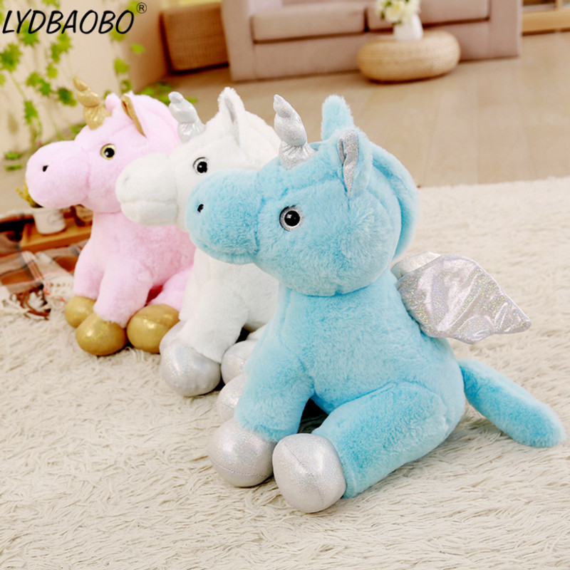 LYABAOBO 1PC 50CM Giant Unicorn Animal Plush Toys Cute Animal Cartoon Horse Unicorn Plush Toys Kawaii Kids Pillow Birthday Gifts