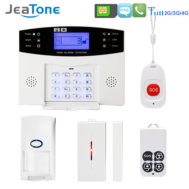 GSM Security Home Burglar Alarm Kits LCD Display SIM SMS Wireless Alarm System APP Control Android IOS PIR Sensor Pet Immune yobang security 30a home security wireless alarm system gsm home burglar alarm kits new version pir infrared gsm sms alarm