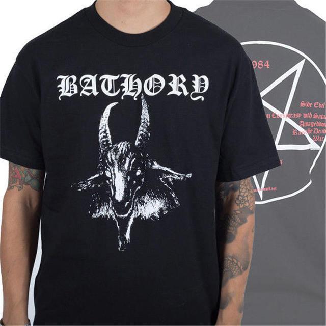 1c2e4423a 2018 Crossfit T Shirts New Bathory Goat 1984 Album Pentagram Black Metal  Shirt (S,M,L,XL) Funny Casual Clothing