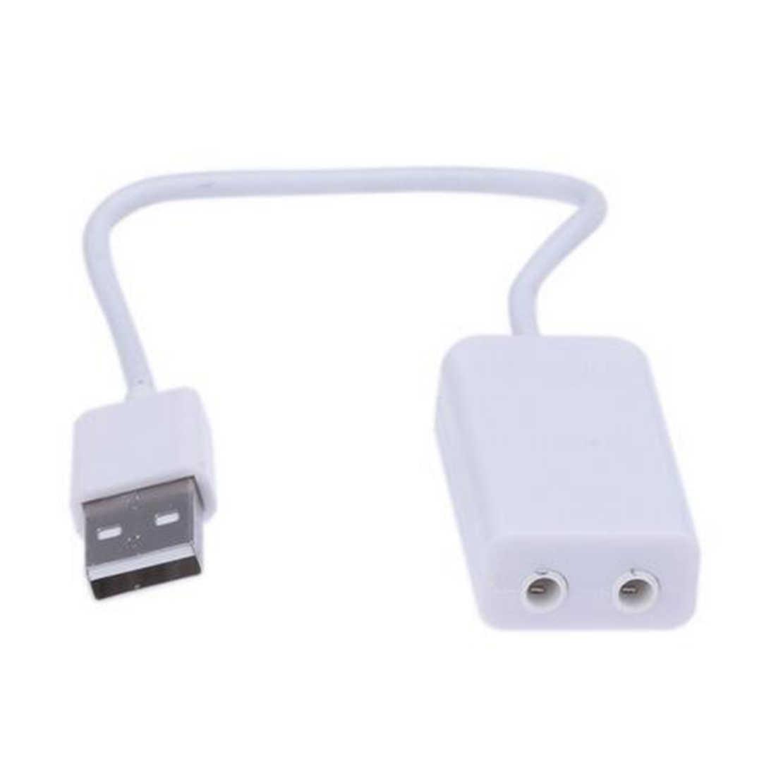 NOYOKERE 3D Белый 2,0 Виртуальный 7,1 канал внешний USB аудио адаптер Звуковая карта Звуковые карты для портативных ПК Mac с кабелем