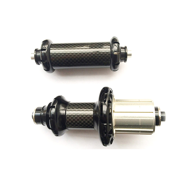 Ultralight karbon yol bisikleti düz çekme Powerway R36 seramik rulman göbeği alüminyum siyah Hub SHIMAN0 veya Campy