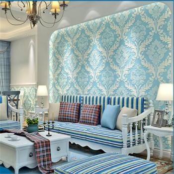 wellyu   papel pintado Wallpapers Living Room Bedroom Non - woven Wallpaper Continental Damascus Stereo  behang tapety
