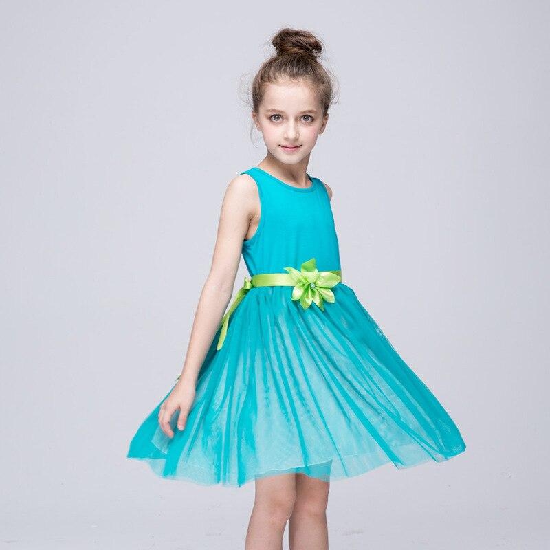 971a16823eee4 الملابس فساتين الاميرة الفتيات bunchems الأوروبية والأمريكية المتوسطة  والصغيرة الأطفال جميل صافي غزل فستان