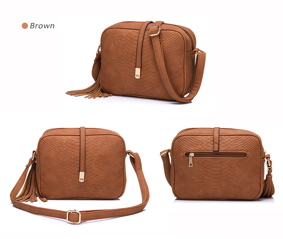 REALER brand small shoulder bag for women messenger bags ladies PU leather handbag purse tassels female crossbody bag women 2019 18