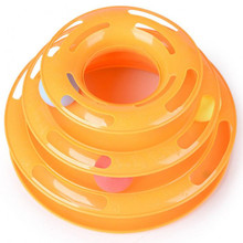 Cat Interactive Pet Toy Training Amusement Plate Creative Pet Cat Toy Luxury Trilaminar Crazy Ball Disk Activity Game